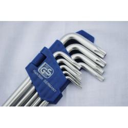 Torx sleutels, lang, 9 dlg